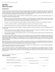 "Form LIC9052 ""Notice Employee Rights"" - California"