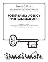 Form LIC 9128 Foster Family Agency Program Statement - California