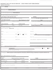 Form LIC 9163B Request For Live Scan Service - Long Term Care Ombudsman - California