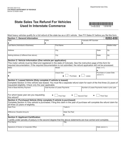 Form DR0202  Printable Pdf