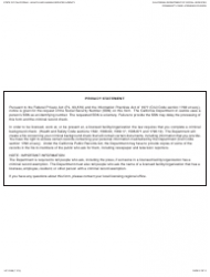 """Form LIC9188 """"Criminal Record Exemption Transfer Request"""" - California, Page 2"""
