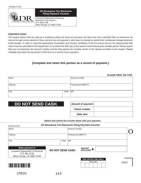 Form R-9100 Printable Pdf