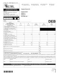 Form R-5398 Distributor/Exporter/Blender Monthly Return - Louisiana