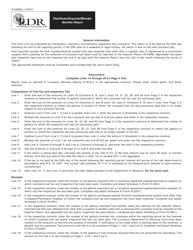 Instruction for Form R-5398 - Distributor/Exporter/Blender Monthly Return