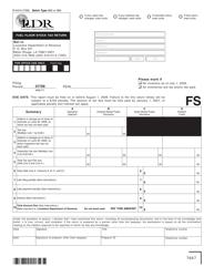 Form R-5410 Fuel Floor Stock Tax Return - Louisiana