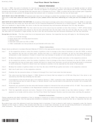 Instructions for Form R-5410 - Fuel Floor Stock Tax Return