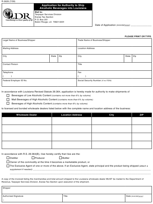 form louisiana pdf ship alcoholic beverages authority application fill printable templateroller 1732