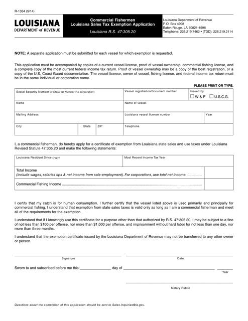 Form R-1334 Fillable Pdf