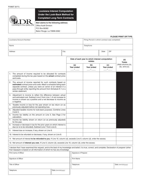 Form R-8697  Printable Pdf