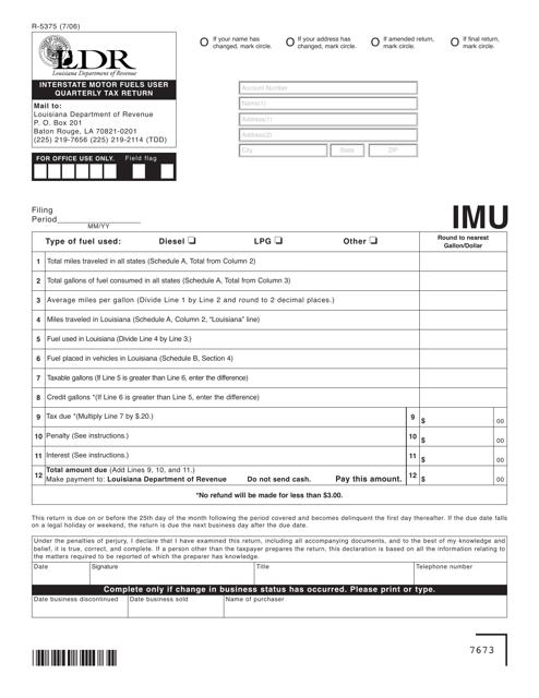 Form R-5375  Printable Pdf
