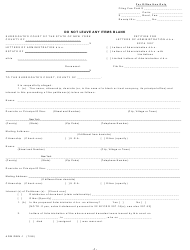 "Form ADM/DBN-1 ""Petition for Letters of Administration D.b.n. Scpa 1007"" - New York"