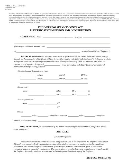 Form 236  Printable Pdf