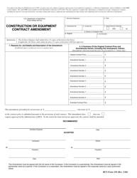 """Form 238 """"Construction or Equipment Contract Amendment"""""""