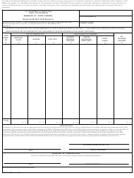 """Form 771 """"Summary of Work Orders (Inspection by RUS Field Engineer)"""""""