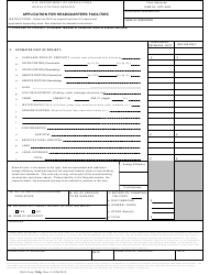 """RUS Form 740G """"Application for Headquarters Facilities"""""""