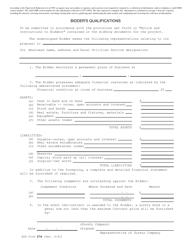 "RUS Form 274 ""Bidder's Qualifications"""