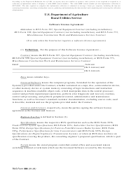 """RUS Form 390 """"Software License Agreement"""""""