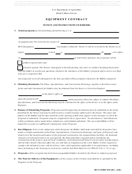 """RUS Form 198 """"Equipment Contract"""""""