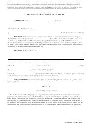 """RUS Form 220 """"Architectural Services Contract"""""""