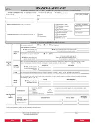 "Form CJA23 ""Financial Affidavit"""