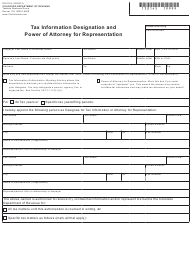 "Form DR0145 ""Tax Information Designation and Power of Attorney for Representation"" - Colorado"