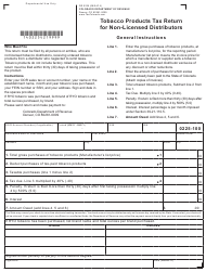 "Form DR0225 ""Tobacco Products Tax Return for Non-licensed Distributors"" - Colorado"