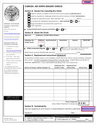 Form OSPS.99.23 Cancel an Osps Issued Check - Oregon