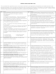 "Instructions for GSA Form SF-424 ""Application for Federal Assistance"""