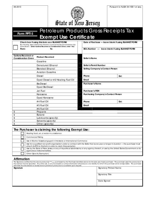 Form PPT-5  Printable Pdf