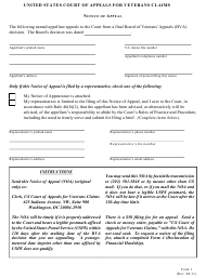 Form 1 Notice of Appeal