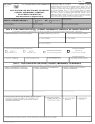 NRC Form 7 Application for NRC Export or Import License, Amendment, Renewal, or Consent Request(S)