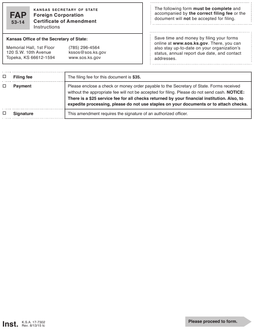 Form FAP53-14 Printable Pdf