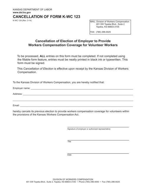 K-WC Form 124  Printable Pdf