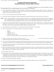 Form SOC 332 In-home Supportive Services - Recipient/Employer Responsibility Checklist - California