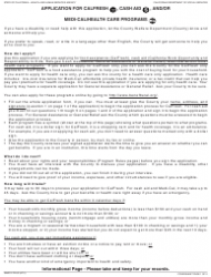 Form SAWS 2 PLUS Application for Calfresh, Cash Aid, and/Or Medi-Cal/Health Care Programs - California