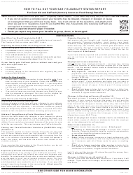 Instructions for Form Sar 7 - Eligibility Status Report