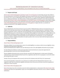 Memorandum of Understanding - Disclosure Agreement for Information With Other Programs - Arizona