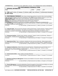 """CAP Form 40 """"CAP Performance Feedback Form"""""""