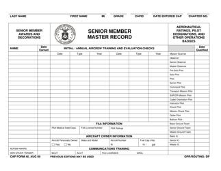 "CAP Form 45 ""Senior Member Master Record"""