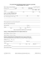 "CAP Form 80 ""Civil Air Patrol Death Benefit/Medical Expense Claim Form (Senior Members and Cadets)"""