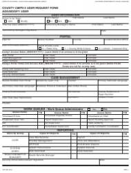 Form SOC 884 County Cmips Ii User Request Form Add/modify User - California