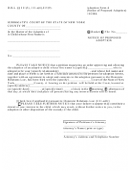 Form 4 Notice of Proposed Adoption - New York