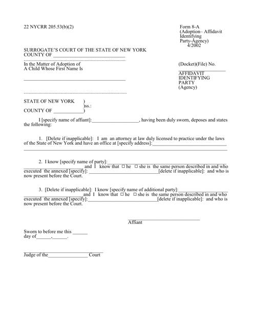 Form 8-A Fillable Pdf