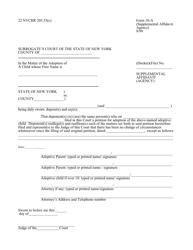 Form 10-A Supplemental Affidavit (Agency) - New York