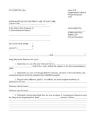 Form 10-B Supplemental Affidavit (Private-Placement) - New York