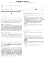 Instructions for Form Ih-12 - Indiana Inheritance Tax Return for a Non-resident Decedent