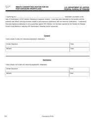 Form BP-A 1053  Fillable Pdf