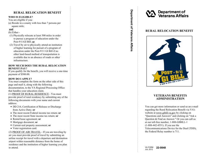 VA Form 22-0848  Printable Pdf