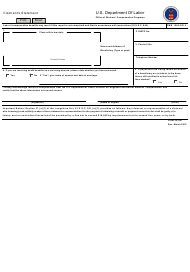 Form LS-267 Claimant's Statement
