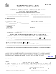 Form RP-436 Application for Real Property Tax Exemption for Property Held in Trust by Members of Clergy for the Benefit of Church Members - New York